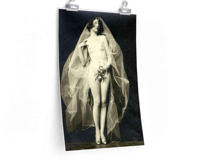 """Mistletoe - Fine Art Poster (12""""X18"""") With An Image From An Antique Vintage Photo, Circa 1920."""