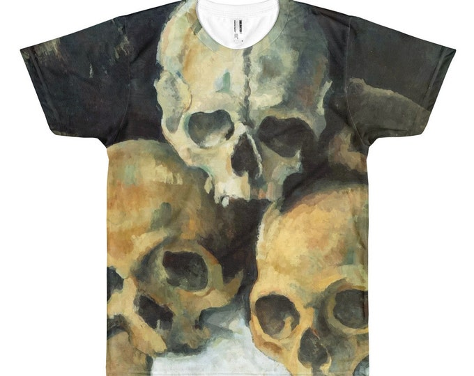 Pyramid Of Skulls, All-over T-Shirt, Vintage Painting,Cezanne 1900