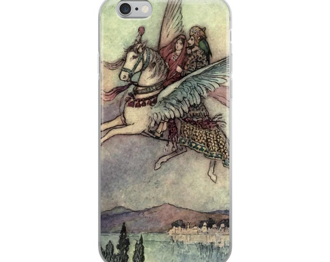 Hiraman and the Pakshiraj, iPhone Case, Vintage Illustration From 1912, Indian Folk Tale