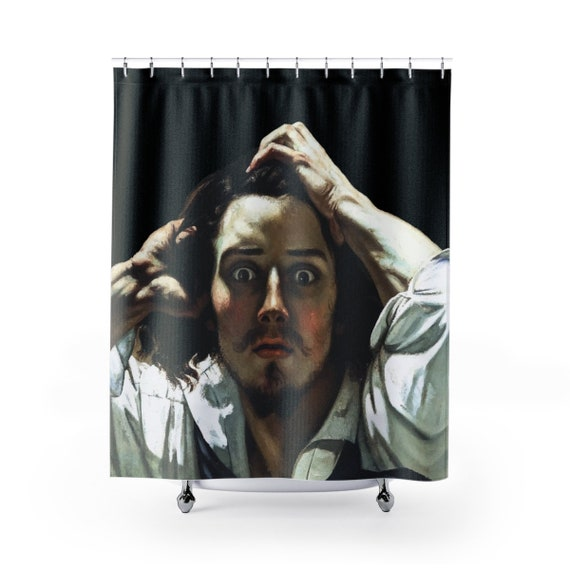 WTF Is Going On?, Shower Curtain, Vintage Painting, Gustave Courbet, 1845