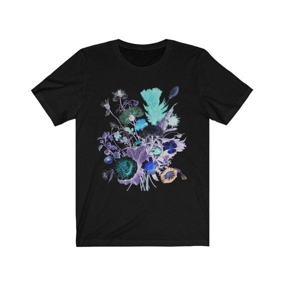 Night Flowers Black Bella+Canvas Soft T-shirt