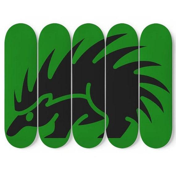 Not A Hugger, Skateboard Art, 5 Maple Decks, Vintage Inspired Porcupine Image