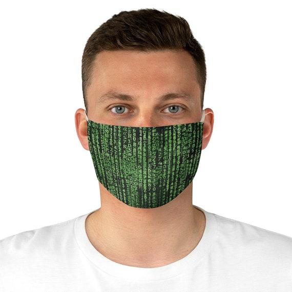The Matrix Code, Cloth Face Mask, Washable, Reusable, Inspired By The Matrix Movies