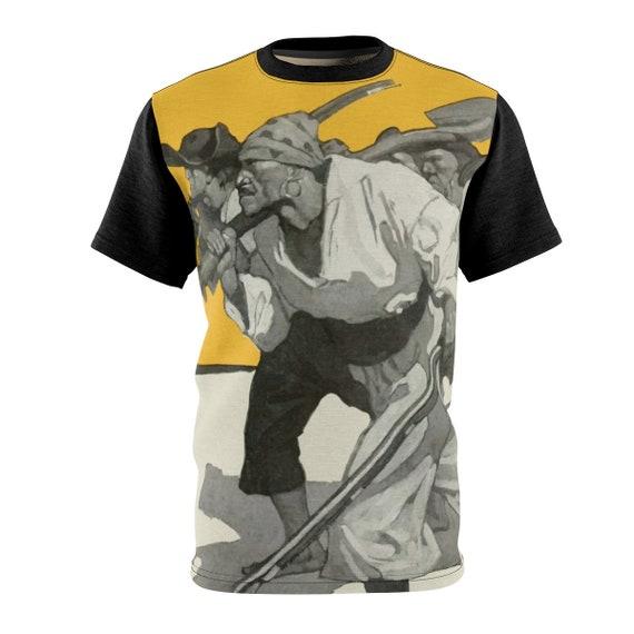 I'm Coming For Your Treasure, Unisex T-shirt, Vintage Illustration, Treasure Island. Pirate, AOP