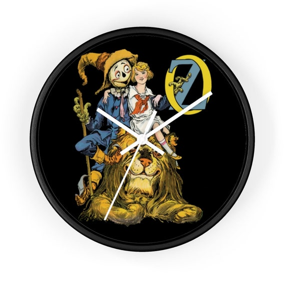 "Dorothy, The Scarecrow & The Cowardly Lion, 10"" Wall Clock, Wizard Of Oz"