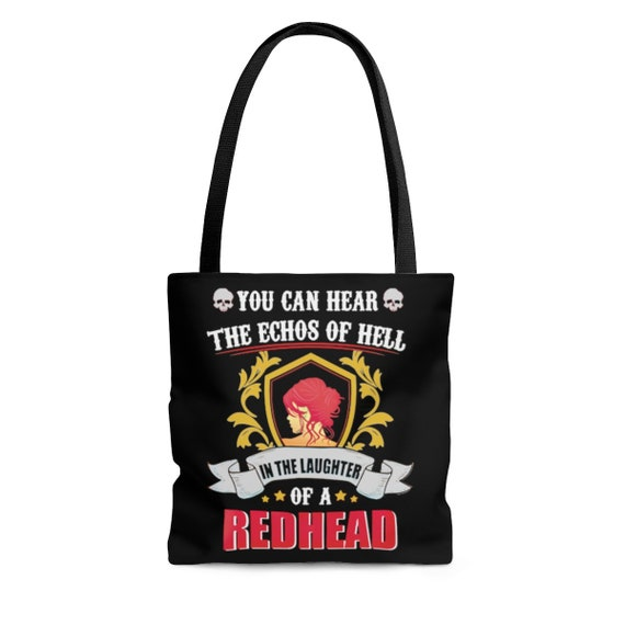 You Can Hear The Echoes Of Hell In The Laughter Of A Redhead, Square Tote Bag