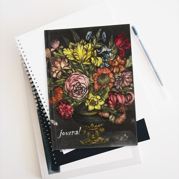 Gothic Flowers Hardcover Ruled Line Journal