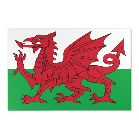 Cymru Am Byth, 2'x3' Door Mat & 4'x6' Area Rug Sizes, Flag Of Wales, Welsh Motto, Welsh Pride