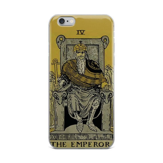 The Emperor Tarot Card,iPhone Case, Vintage Illustration