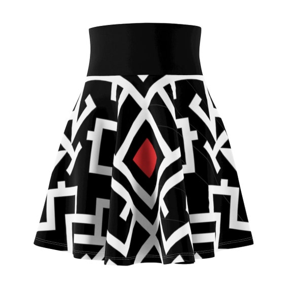 Thunderbird Skater Skirt, Vintage Inspired Tribal Pattern