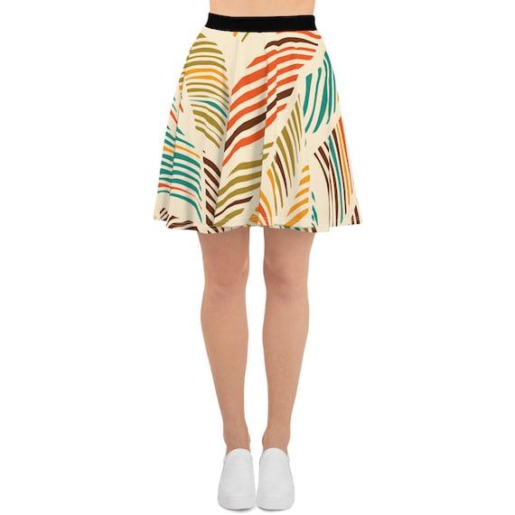 Coconut Leaves, Skater Skirt, Vintage Inspired