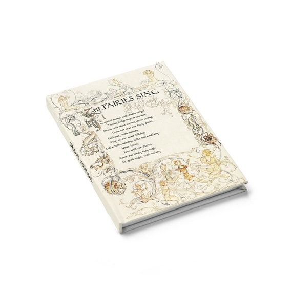 Faeries Sing Dream Journal, Hardcover, Ruled Line, Arthur Rackham, Shakespeare, A Midsummer Night's Dream, Notebook