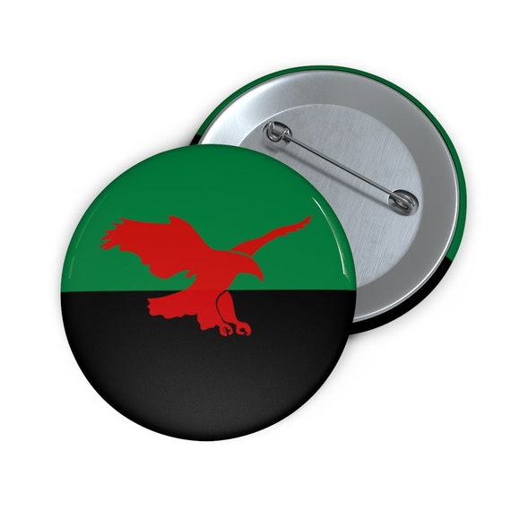 """House Atreides v2, 2"""" Pin Button, Inspired From Dune, Cosplay, Red Hawk, Banner"""