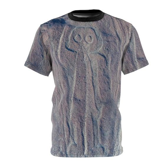 Nazca Astronaut, Unisex T-shirt, Ancient Geoglyph