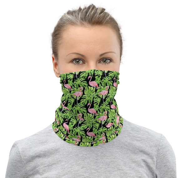 Pink Flamingos, Neck Gaiter, Headband, Bandana