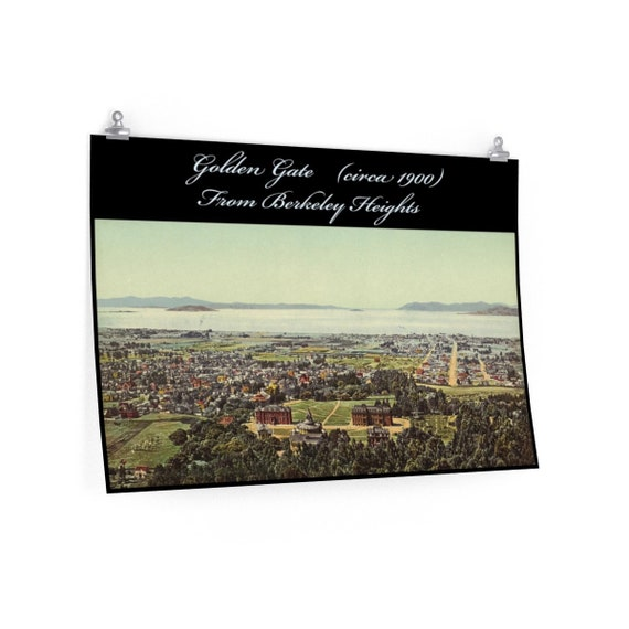Fine Art Poster Matte With Vintage Photo Of The Golden Gate Strait From An Antique Postcard Circa 1900