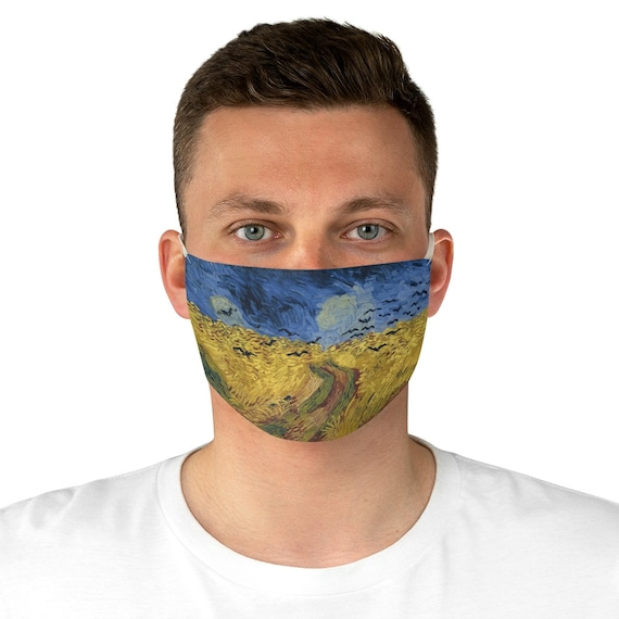 Wheat Field With Crows, Cloth Face Mask, Washable, Reusable, Vincent Van Gogh