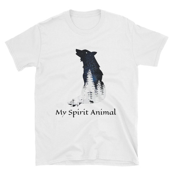 My Spirit Animal, Short-Sleeve Unisex T-Shirt, Wolf, Jack London Inspired