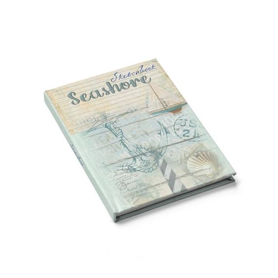 Ocean Themed Hardcover Sketchbook, Seashore, Beach, Notebook