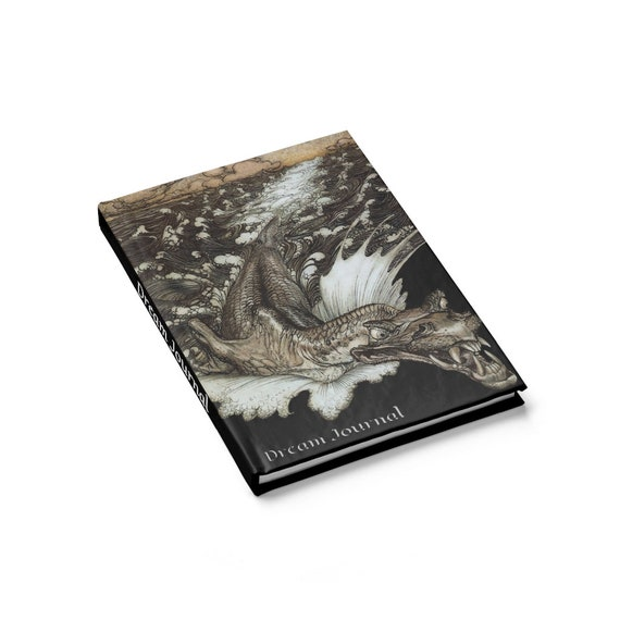Leviathan Dream Journal, Hardcover, Ruled Line, Arthur Rackham, Sea Monster
