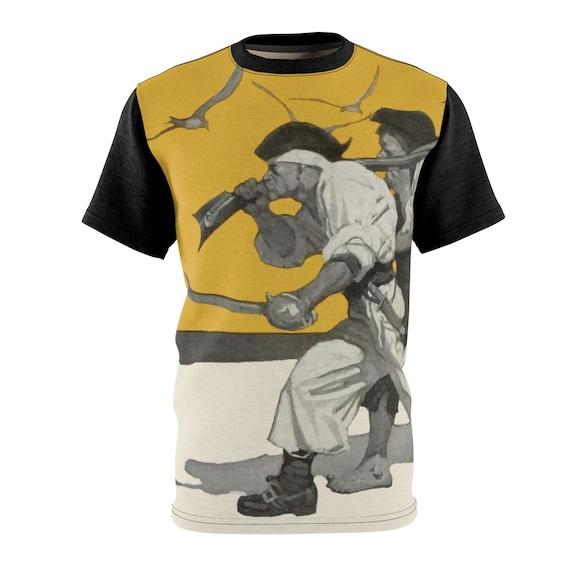 I'm Coming For Your Treasure v2, Unisex T-shirt, Vintage Illustration, Treasure Island. Pirate, AOP
