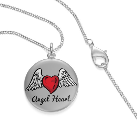 Angel Heart, Sterling Silver Necklace, Valentine's Day Gift, Birthday, Anniversary