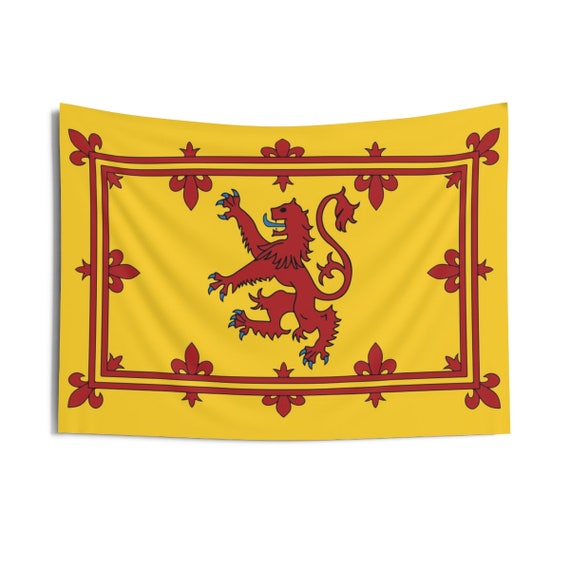 """Lion Rampant of Scotland, 36""""x26"""" Indoor Wall Tapestry, Royal Banner of the Royal Arms of Scotland"""
