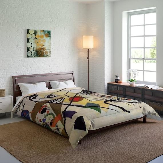Kandinsky's Transverse Line Queen Comforter, Abstract