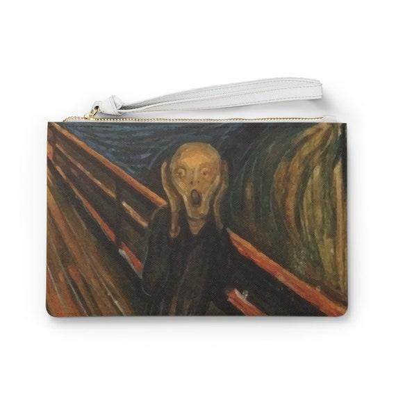 "The Scream 9""x6"" Vegan Leather Clutch Bag, Edvard Munch"