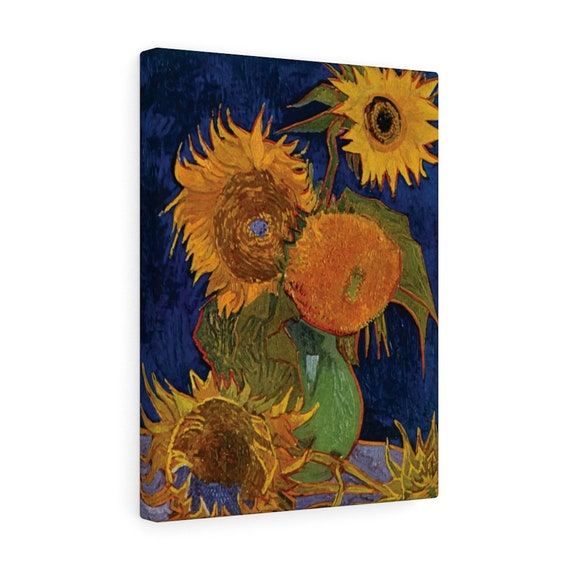 Six Sunflowers Canvas Gallery Wrap, Vincent Van Gogh, 1888