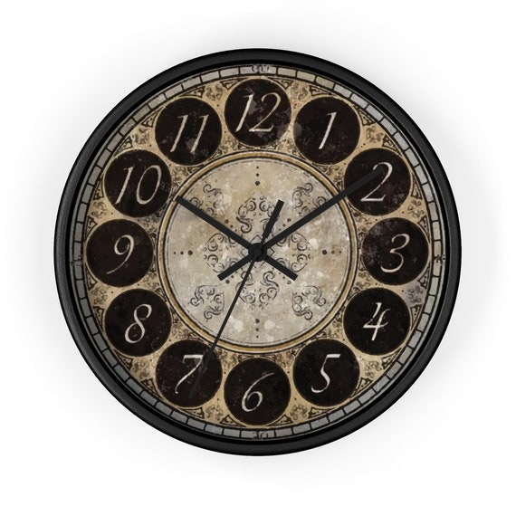 "Vintage Style 10"" Wall Clock, Large Numbers, Distressed Look"