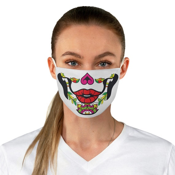 Calavera Cloth Face Mask, Washable, Reusable, Day Of The Dead
