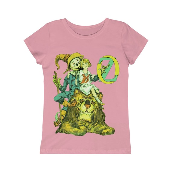 Dorothy, The Scarecrow & The Cowardly Lion, Girls Princess Tee, Pink, Wizard Of Oz