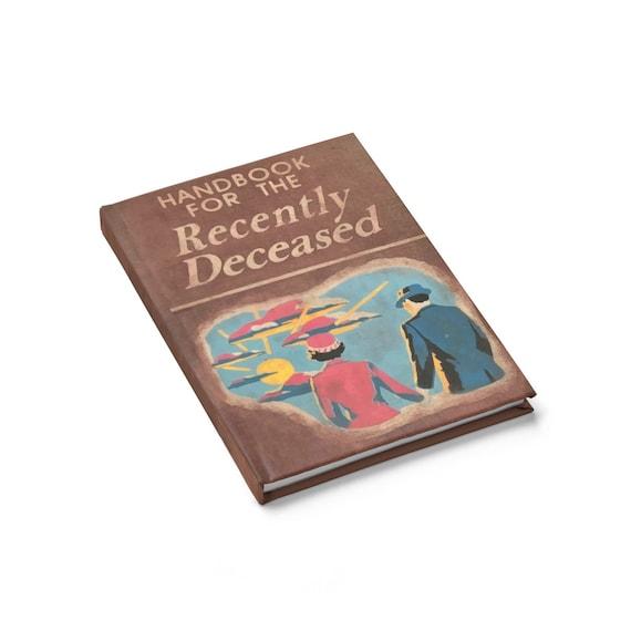 Handbook For The Recently Deceased, Hardcover Journal, Ruled Line, Cosplay, Vintage Movie Book, Beetlejuice, Back Cover Is Upside Down