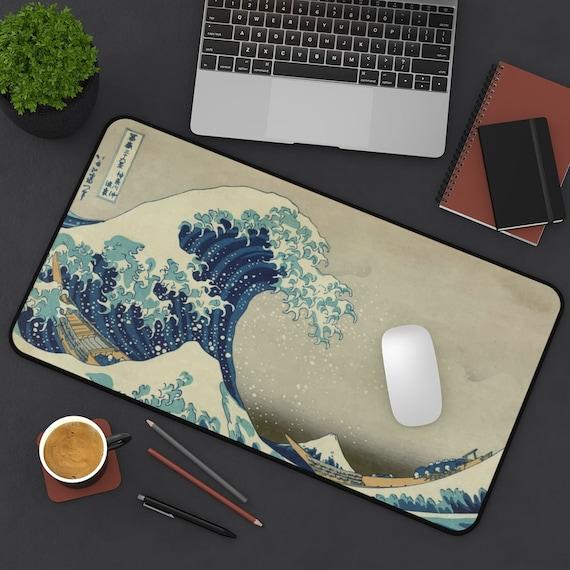 The Great Wave off Kanagawa, Desk Mat, 19th Century Japanese Woodblock Print