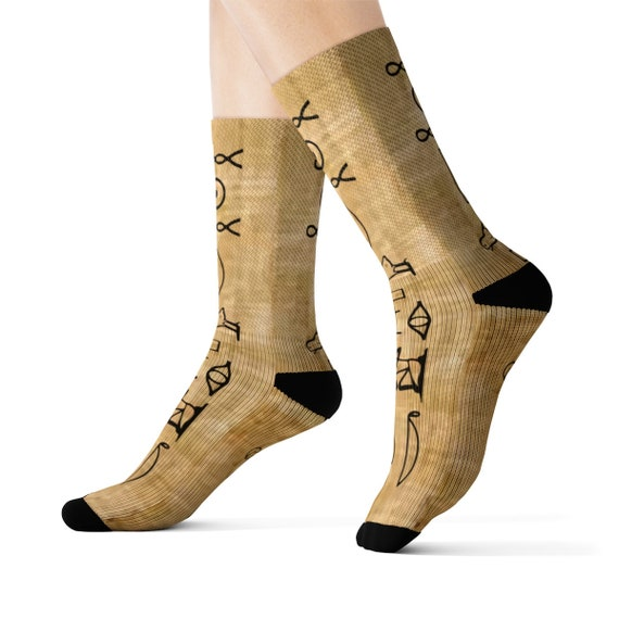I am Osiris, the Lord of Eternity, Crew Socks, Ancient Egyptian Hieroglyphs