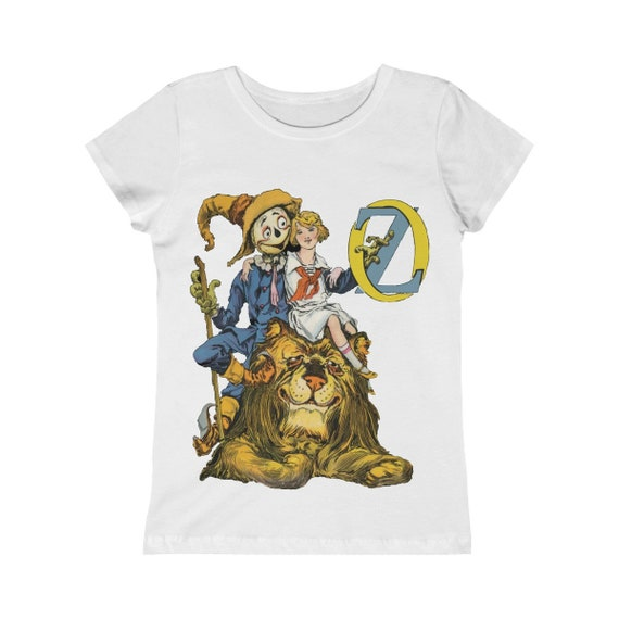 Dorothy, The Scarecrow & The Cowardly Lion, Girls Princess Tee, White, Wizard Of Oz