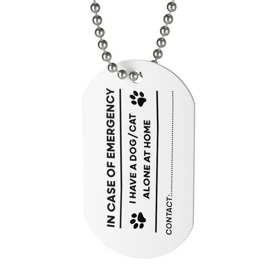 Emergency Pet At Home Dog Tag, Keychain