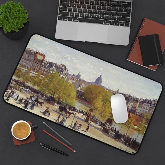 Quai du Louvre, Desk Mat, Claude Monet, Victorian Paris