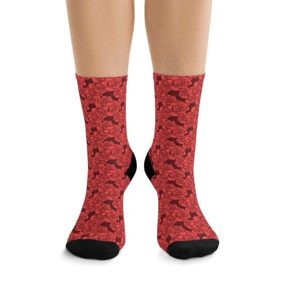 Roses Premium Crew Socks, One Size Fits Most