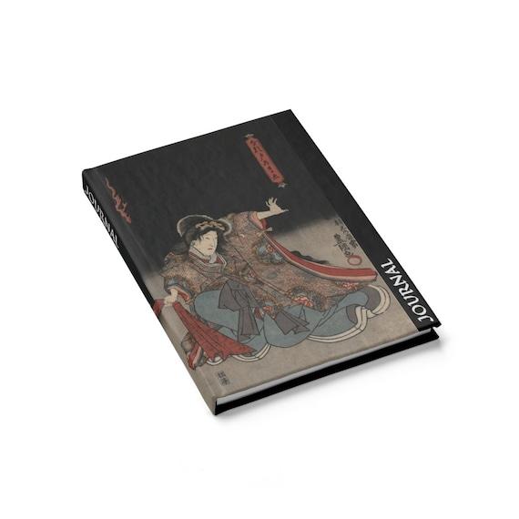 Kabuki Actors Hardcover Journal, Japanese Woodblock, Utagawa Kunisada, Circa 1847, Notebook