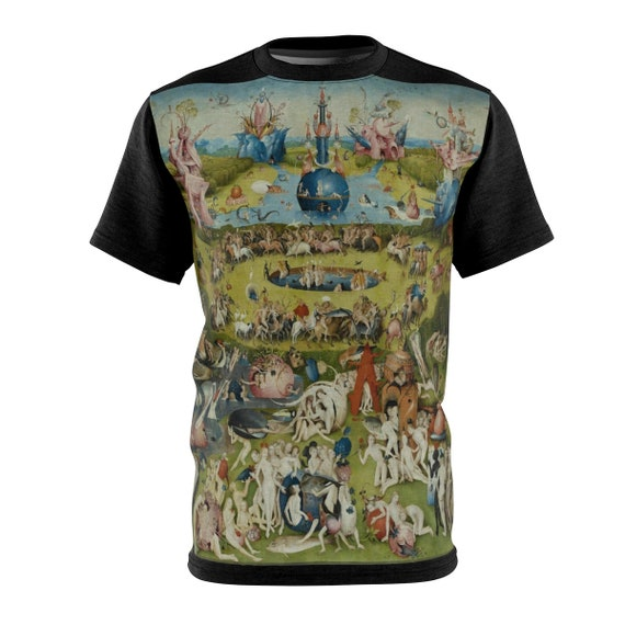 The Garden of Earthly Delights Shirt, Surreal, Hieronymus Bosch, AOP