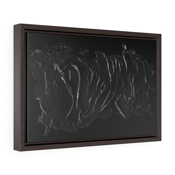 """Paint it Black, 18""""x12"""" Framed Gallery Wrap Canvas, Abstract"""