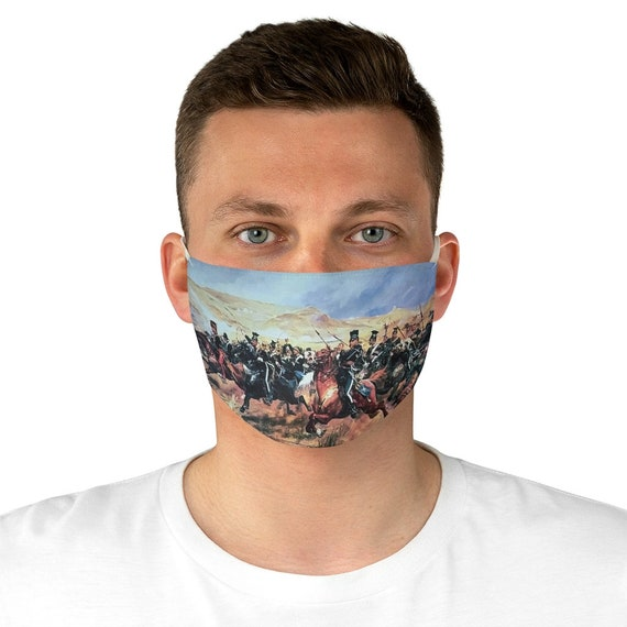 The Charge Of The Light Brigade Cloth Face Mask, Washable, Reusable, Battle of Balaclava, Crimean War, Military History