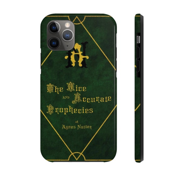 The Nice and Accurate Prophecies of Agnes Nutter, iPhone 11 Tough Case, TV Book, Good Omenss