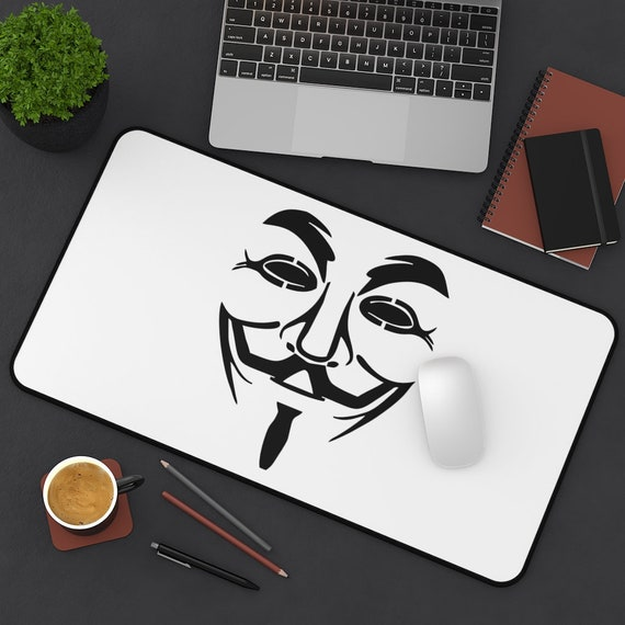 Guy Fawkes Desk Mat, Inspired From V For Vendetta Movie, Anonymous, Activism