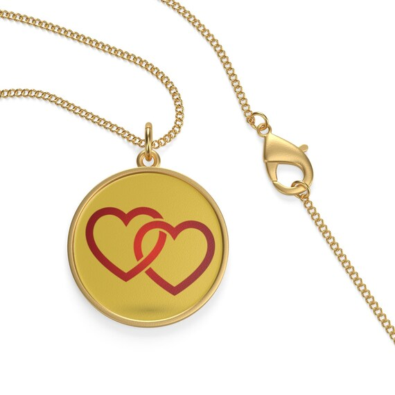 Gold Hearts, 18K Gold Plated Chain Necklace, Vintage Inspired Design