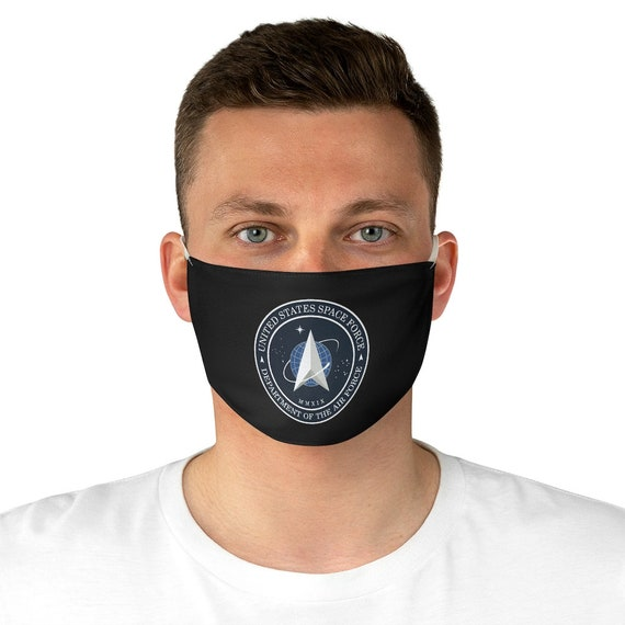 Space Force Insignia Logo, Cloth Face Mask, Washable, Reusable, From Official USSF Seal, U.S. Military