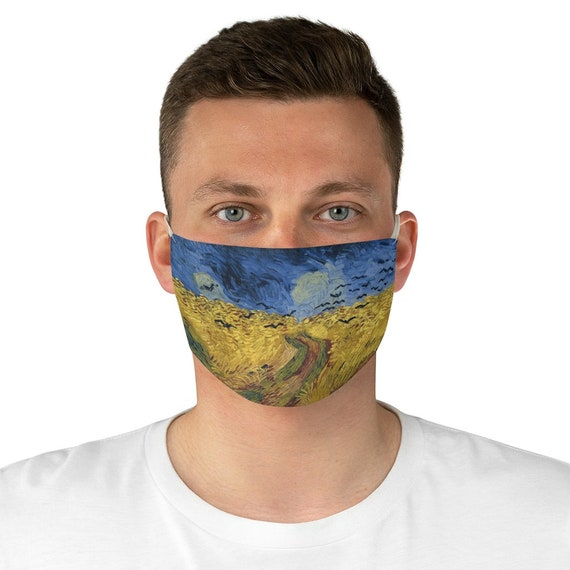 Wheatfield With Crows, Cloth Face Mask, Washable, Reusable, Vincent Van Gogh