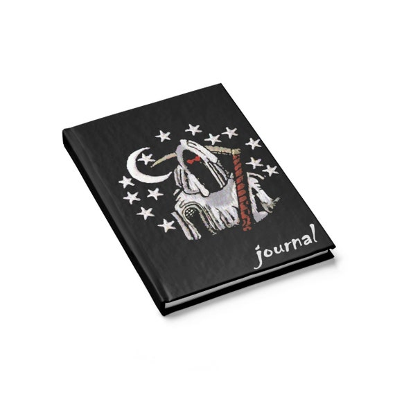 Death Night, Hardcover Journal, Ruled Line, Classic Retro Style Design, From Military Patch
